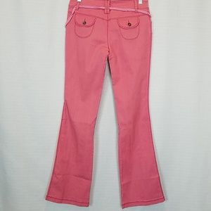 The Beatles Jeans - The Beatles | Pink Flare Stretch Jeans 28